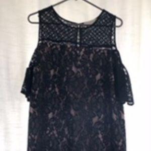 NWT Black Lace Cold Shoulder Dress